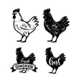 black chicken symbol vector image vector image