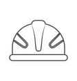 monochrome silhouette of protective worker helmet vector image