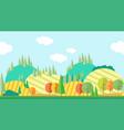Seamless horizontal autumn landscape vector image