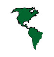 green america map location geography atlas vector image