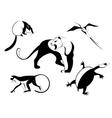 Decor animal silhouette vector image