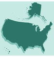 Silhouette map of USA vector image vector image