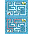 Duck maze vector image