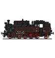 Classic steam locomotive vector image