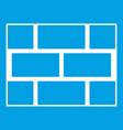 concrete block wall icon white vector image