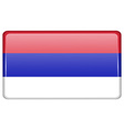 Flags Republika Srpska in the form of a magnet on vector image
