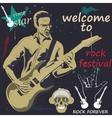 guitar man vector image