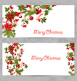 invitation cards with a Christmas pattern for your vector image