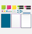 set of stationery design elements vector image
