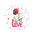 So sweet love vector image