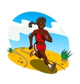 Young african woman cross country runner vector image