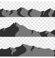 seamless mountains collection vector image