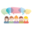 Group of people communication vector image vector image