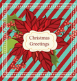 Christmas greeting card with frame vector image