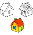 Cute little house sketch vector image