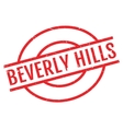 Beverly Hills rubber stamp vector image