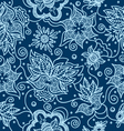 pattern with indian design elements vector image