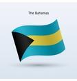 Bahamas flag waving form vector image