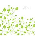 Green leaves bacgkround vector image