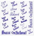 Back to school sketchy notebook doodles design vector image