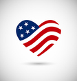 American flag heart vector image