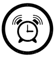 Alarm Clock Ring Rounded Grainy Icon vector image