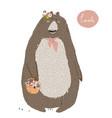 cute summer bear vector image