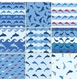 sea dolphin pattern vector image