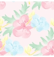 Seamless watercolor background with flowers vector image