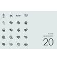 Set of neurology icons vector image