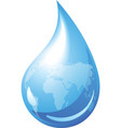 water drop globe vector image