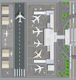 Airport passenger terminal vector image