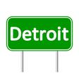 Detroit green road sign vector image