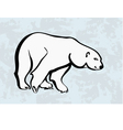 polar bear icons tattoo vector image