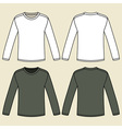 Blank long-sleeved T-shirts template vector image
