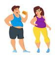 fat man and woman vector image