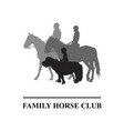 family horse club emblem vector image vector image