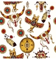 Tribal seamless background vector image
