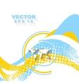 Minimal wavy bright background vector image vector image