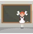 Soviet schoolgirl from school boards vector image