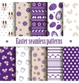 10 seamless easter patterns vector image