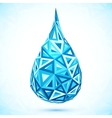 Abstract triangles blue water drop vector image