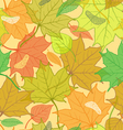 Autumn Fallen Leaves Pattern vector image