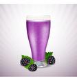 Blackberry milk vector image