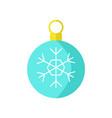 christmas blue ball snowflake vector image