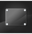 glass frame on grid background vector image