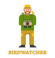 Happy Birdwatcher Isolated Icon vector image