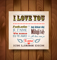 I Love You In Seven Languages vector image
