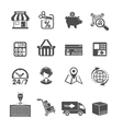 Internet Shopping and Delivery Icons Set vector image