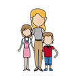 mother together with her childrens vector image